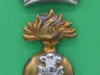 KK 692. Royal Irish Fusiliers. Two parts cap badge, slider and lugs. 27x44 mm.