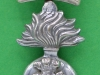 KK 694. The Royal Irish Fusiliers (Princess Victoria`s) silvered cap badge with slide. 25x44 mm. Two parts badge (1)