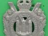 BLO84. The Kings Own Scottish Borderers, post 1902. Korset har extra lange bjælker. 53x75 mm.