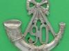 KK 562. 90th Perthshire Volunteer Light Infantry, Glengarry 1874-1881. 57x56 mm.