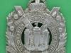 KK 628. Kings Own Scottish Borderers. Small curvet badge. 46x65 mm.
