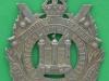 KK 629. Kings Own Scottish Borderers Large flat badge. 52x70 mm.