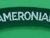 The Cameronians Scottish Rifles cloth shoulder title.