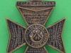 KK 2011. The Kings Royal Rifle Corps. Screws perhaps helmet badge. 40x54 mm.