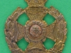 KK 703. The Rifle Brigade with a Guelphic crown. Victorian field service cap badge. 28x33 mm.