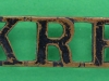 RW1292. Kings Royal Rfiles shoulder title. 35x12 mm.