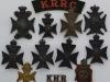 The Kings Royal Rifle Corps badges.
