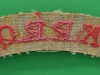 The Kings Royal Rifle Corps cloth shoulder title ww2 issue. 90x22 mm (2)