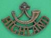 RW1358. Highland Light Infantry, shoulder title 1930. 46x33 mm.