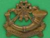 CW242. The Kings Shropshire Light Infantry 1881-1882 collar badge. 33x27mm.