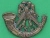 CW243. Kings Shropshire Light Infantry, Collar badge 38x31 mm.