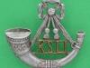 KK 2010. Kings Shropshire Light Infantry. Beret badge 1963. Slide 37x34 mm (1)