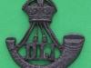 KK 681. Durham Light Infantry officers bronce collar badge left ww1. 39x42 mm.