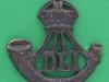 KK 681. Durham Light Infantry officers bronce collar badge right ww1. 40x41 mm.