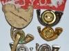 Kings Own Yorkshire Light Infantry badges reverse.