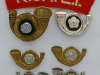 Kings Own Yorkshire Light Infantry badges.