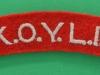 Kings Own Yorkshire Light Infantry cloth shoulder title