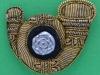 Kings Own Yorkshire Light Infantry. Officers bouillon cap badge. 43x34 mm (1)