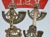 Kings Shropshire Light Infantry badges reverse.