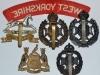 West Yorkshire Regiment badge group reverse.
