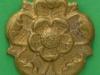 CW201. East Lancashire Regiment collar badge. 28 mm.