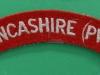 South Lancashire Regiment (Prince of Wales) cloth shoulder title. 130x22 mm.