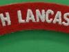 South Lancashire Regiment cloth shoulder title. 125x22 mm.