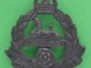 KK 638. East Lancashire Regiment. Slide cast blackened 41x45 mm.