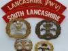 South Lancashire Regiment badge group.