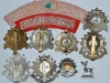 Bedfordshire and Hertfordshire Regiment badge group reverse.