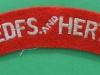 Bedfordshire and Hertfordshire Regiment cloth shoulder title. 105x24 mm.