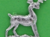 CW168. The Bedfordshire Regiment. collar badge, 21x26 mm,