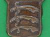 CW227. The Essex Regiment collar badge. 24 mm bronce.