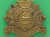 KK 610. The Bedfordshire Regiment. All brass 1916 cap badge. slide 41x42 mm.