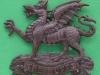 KK 591. The Buffs Royal East Kent Regiment officers bronce. Folding blades 48x42 mm.