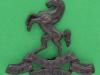 KK 668. Royal West Kent Regiment officers bronce cap badge. Folding lugs 43x39 mm.