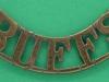 RW744. The Buffs Royal East Kent Regiment shoulder title 1902. 50 mm.