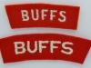The Buffs (East Kent) Regiment badges (2)