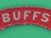The Buffs, canvas shoulder title ww2. 90x20 mm.