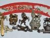 The Royal West Kent Regiment badge group reverse.