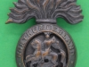 KK 593. Northumberland Fusiliers. Officers bronce cap badge, folding blades 31x42 mm.