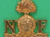 RW767. Royal Northumberland Fusiliers shoulder title 1960ties. 31x29 mm.