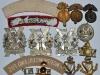 Royal Northumberland Fusiliers badges back sides