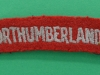 Royal Northumberland Fusiliers cloth shoulder title.  105x21 mm.