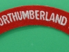 Royal Northumberland Fusiliers cloth shoulder title. 130x21 mm.