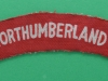 Royal Northumberland Fusiliers ww2 canvas shoulder title.  125x26 mm.