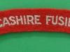 The Lancashire Fusiliers cloth shoulder title. 135x21 mm.