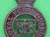 KK 1878. The Royal Horse Guards (the Blues), dark brass, slider, Bowler. 27x39 mm.