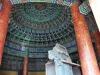 Undersiden af Centertårnet i Himlens Tempel med det flotte azurblå tegltag