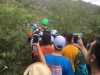 På første dagen på den improviserede rute opstod der et sted i krakkemutten en kæmpe flaskehals for de ca. 8500 deltager hvor man sad fast i en halv times tid.